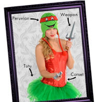 Teenage Mutant Ninja Turtles Women's Looks
