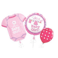 Girl Baby Shower Balloons - Shower with Love