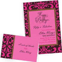 Custom Fabulous Celebration Invitations & Thank You Notes