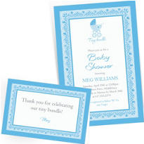 Custom Celebrate Baby Boy Invitations & Thank You Notes