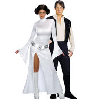 Sexy Princess Leia and Han Solo Star Wars Couples Costumes