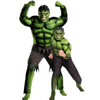 Hulk Daddy and Me Muscle Costumes