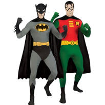 Batman and Robin Second Skin Couples Costumes