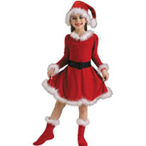 Girls Little Santa Costume