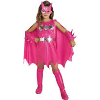 Girls Pink Batgirl Costume - Batman