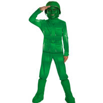 Boys Green Army man Costume Deluxe - Toy Story