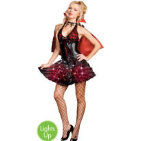 Adult Moon-Light Bite Light-Up Vampire Costume