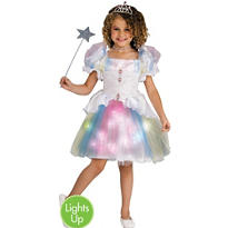 Girls Light-Up Rainbow Ballerina Costume