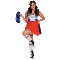 Adult Team Captain Cheerleader Costume Plus Size