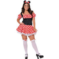 Adult Mickey's Mistress Mouse Costume Plus Size