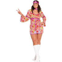 Adult Free Love Hippie Costume Plus Size