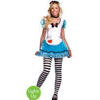 Teen Girls Wonderland's De-Light Light-Up Alice Costume
