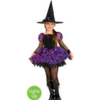 Girls Light-Up Moonlight Magic Witch Costume