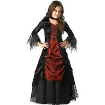 Girls Gothic Vampira Costume Elite