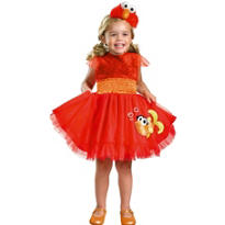 Toddler Girls Frilly Elmo Costume - Sesame Street