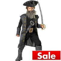 Boys Blackbeard Costume - Pirates of the Caribbean