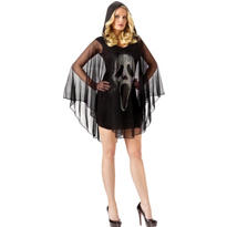 Adult Ghost Face Poncho Costume - Scream