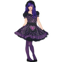 Teen Girls Dark Dollie Costume