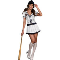 Adult Sexy Vintage Baseball Player Costume