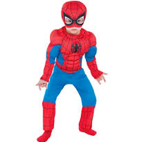 Toddler Boys Classic Spider-Man Muscle Costume