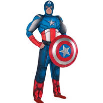 Adult Captain America Muscle Costume