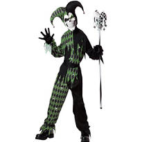Boys Joke's On You Evil Jester Costume