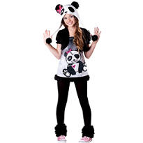 Girls Funky Panda Costume