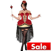 Adult Velvet Queen of Hearts Costume