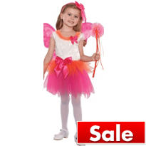 Girls Fuchsia Eloise Fairy Princess Costume
