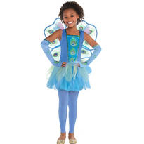 Girls Princess Peacock Costume