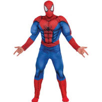 Adult Spider-Man Muscle Costume Deluxe - Spider-Man 2