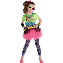 Girls Totally Awesome 80s Costume