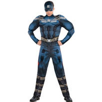 Adult Captain America Muscle Costume - Captain America 2