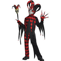 Boys Krazed Jester Costume