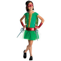 Girls Raphael Costume Deluxe - Teenage Mutant Ninja Turtles