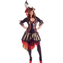 Adult Pirate Body Shaper Costume Plus Size