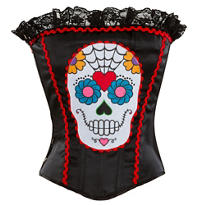 Sugar Skull Corset - Day of the Dead