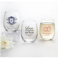 Personalized Stemless Wine Glasses 9oz