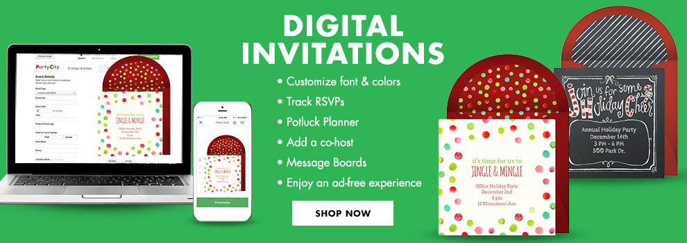 Digital Christmas Invitations