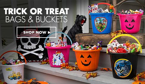 Halloween Trick or Treat Bags, Buckets