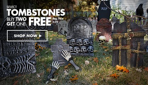 Tombstone, Cemetery Halloween Decorations