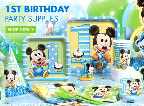 1st Birthday Party Supplies