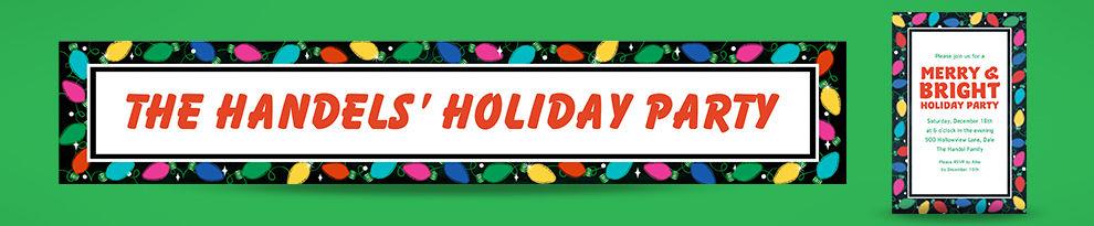 Custom Christmas Invitations & Banners
