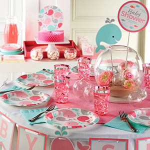 Pink Baby Whale Party Supplies Party Supplies