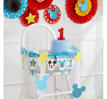 Mickey First Birthday High Chair Idea