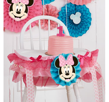 Minnie High Chair Decorating Idea
