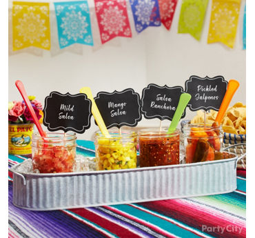 Taco Bar Fixings Idea