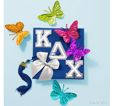 The Greek Life Grad Cap Decorating Idea