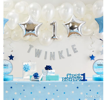 Twinkle First Birthday Balloon Wall Idea