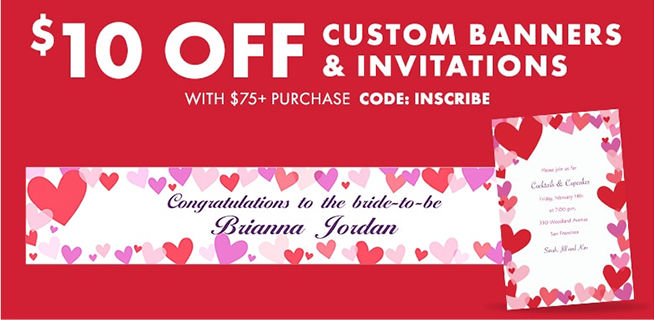 Custom Valentine's Invitations & Banners